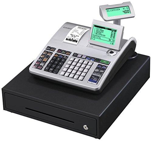 Casio SE-S400MB-SR-FIS GDPdU-fähige Registrierkasse inclusive Softwarelizenz, SD-Card und Batterie Komplettpaket und kostenfreier Hotline, silber/schwarz