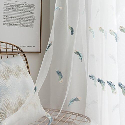 1 Stück Angepasst Weiß Leder Muster Voile Vorhänge & Vorhänge zum Leben Zimmer das Schlafzimmer Schier Vorhänge Tüll Bucht Fenster 1 Panel Garn Vorhänge Partition (W * H) , 2.5*2.7m(hook top) (Top Gaze Häkeln)