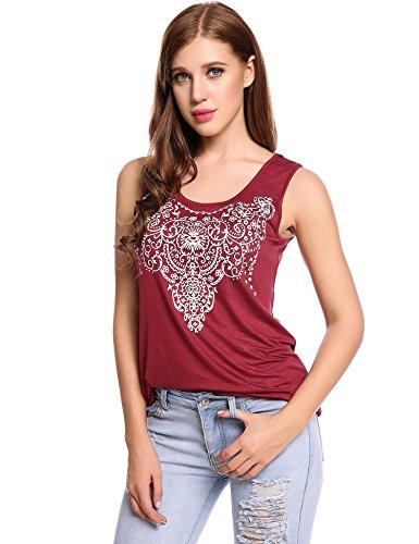 SoTeer Women's Summer Sleeveless Street Printed T Shirt Tank Vest Tops Graphic Tees S-XXL