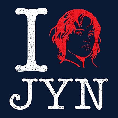 Star Wars Rogue One I Heart Jyn Erso White Women's Sweatshirt Navy blue