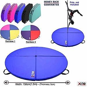 XN8Schutzmatte für Poledance oder Gymnastikball, Stoßdämpfung, 150cm Durchmesser, 5cm dick