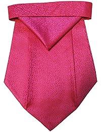 Riyasat - Pink Color Self Design Micro Fiber Cravat with Pocket Square (C_0071)