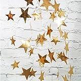 Yuccer 2 Pacco Ghirlanda Carta Decorative Luccichio Stella Carta Decor per Nozze Nuziale Bambino Docce Compleanno Natale Festa (Oro)