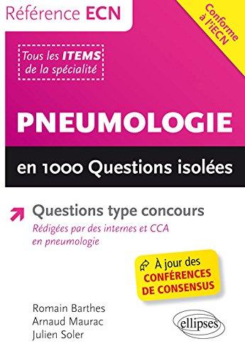 Pneumologie en 1000 Questions Isolées Conforme à l'iECN