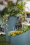 TerraGala Kräuterspirale, Kräuterschnecke, Pflanzspirale aus Kunststoff, Modernes Design, 80cm x Ø 80cm, Grau, Bausatz mit Passender Vliesunterlage