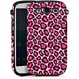 Samsung Galaxy S3 Hülle Tough Case Schutzhülle Leo Pink Animal Print