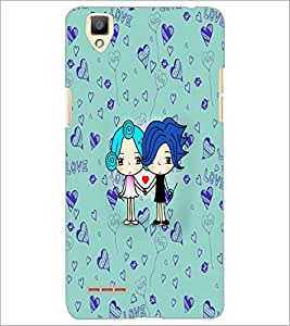 PrintDhaba Love D-5867 Back Case Cover for OPPO F1 (Multi-Coloured)