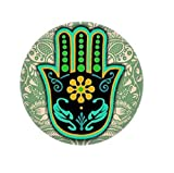 Yuloen Insignias Encantadores Accesorios de Mujer Creativo Turquía Palma 25MM Aleación Broche Redondo botón Insignia (Colorido)