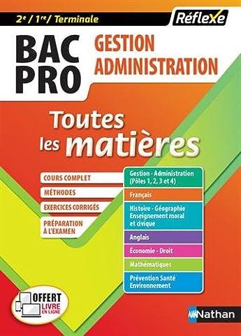 Toutes les matières Bac Pro GA - Gestion Administration (2e/1re/Tle)