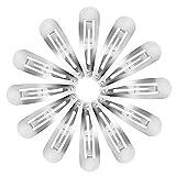 50 Packung Snap Haarclips Haarspangen für Kinder, Mädchen und Damen, 50 mm (Silber)