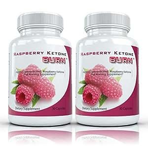 Raspberry Ketone Burn (2 bouteilles) hautement concentré Framboise cétones Supplément Fat Burning Les mieux notées naturel Perte de poids formule