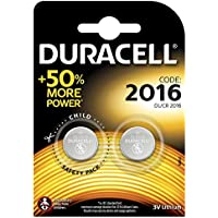 Duracell Specialty 2016 Lithium Coin Battery 3V, pack of 2 (DL2016/CR2016) designed for use in keyfobs, scales, wearables and medical devices
