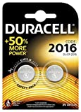 Duracell Specialty 2016 Lithium Coin Battery 3 V, Pack of 2
