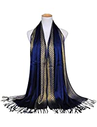 24ae360dcaaa WELKOO Foulard femme, Voile pour femme long, Châle Fashion. Foulard pour  femme tendance