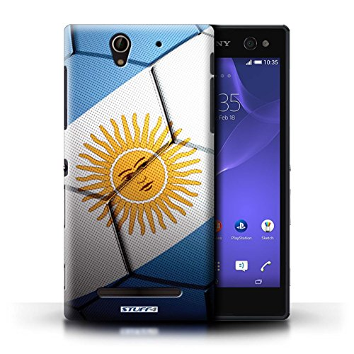 Kobalt® Imprimé Etui / Coque pour Sony Xperia C3 / France/Français conception / Série Nations de Football Argentine