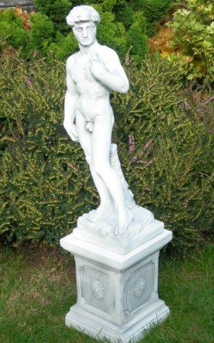 Skulptur David von Michelangelo auf klassischer Säule H 85 cm Statuen aus Beton (Skulptur David)