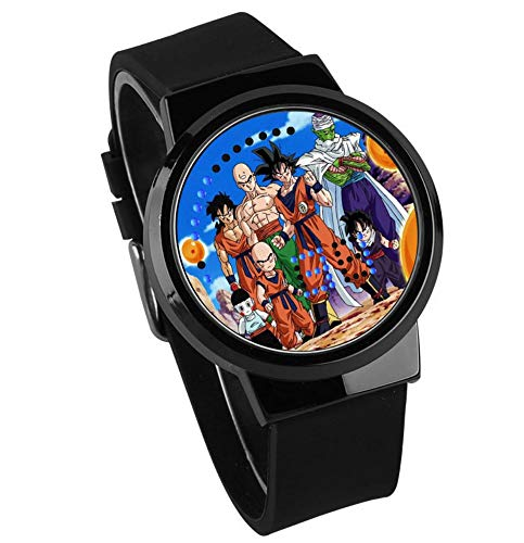 Relojes De Pulsera,Pantalla Táctil Led Reloj Siete Dragon Ball Super Saiya Luz Nocturna Impermeable...