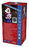 Konstsmide 6143-203 LED Acrylfigur 'Weihnachtsmann mit Schild' / für Außen (IP44) /  Batteriebetrieben: 4xAA 1.5V (exkl.) / 6h Timer / 32 kalt weiße Dioden / transparentes Kabel