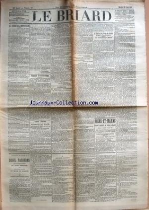 BRIARD (LE) [No 65] du 30/08/1905 - LA GUERRE AUX INSTITUTEURS PAR L. LAFFERRE - PAROLES D'INSTITUTEURS - LIBRE PENSEE - CONGRES DE PARIS - FEDERATION DES ASSOCIATIONS PROFESSIONNELLES - CHEMINS DE FER DE L'EST - VOYAGES CIRCULAIRES DANS LES VOSGES - SERVICES RAPIDES PARIS-VOSGES - LA BOURSE DU TRAVAIL DE MEAUX DEVANT LE CONSEIL GENERAL - SEINE-ET-MARNE - CONSEIL GENERAL DE SEINE-ET-MARNE - SESSION ORDINAIRE D'AOUT 1906.