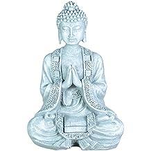 Goldfarbener Buddha Geschenk Figur Geschenktasche Meditation Buddha Figur