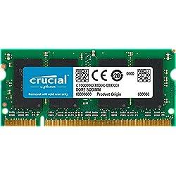 Crucial CT25664AC800 2 GB Speicher (DDR2, 800MHz, PC2-6400, SODIMM, 200-Pin)