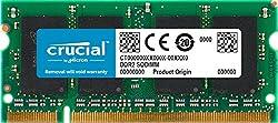 Crucial Ct12864ac667 1gb Ddr2 667mhz Sdram (Pc2-5300, Sodimm 200-pin)