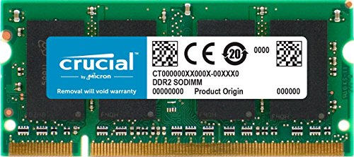 Crucial CT25664AC667 2 GB Speicher (DDR2, 667MHz, PC2-5300, SODIMM, 200-Pin) -