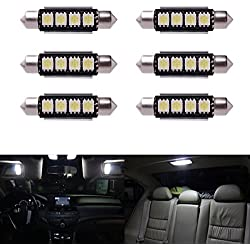 6 x Car Dome 5050 SMD LED Canbus Bombilla Interior del adorno LED 42MM Blanco LD308