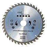 NBS Werkzeuge HM Hartmetall Kreissägeblatt 210 x 30 x 40 Zähne