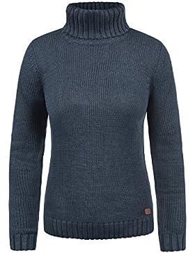 Desires Pia Jersey De Cuello Alto Jersey De Punto Suéter Sudadera De Punto para Mujer con Cuello Alto Doblado