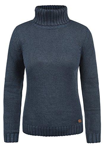 DESIRES Pia Damen Rollkragenpullover Pullover mit Rollkragen, Größe:XXL, Farbe:Insignia Blue Melange (8991)