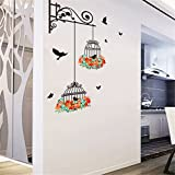 Vovotrade® Birdcage Peinture Décorative Chambre Salon TV Wall Stickers Mural Decorative Painting Bedroom Living room TV Wall Stickers Mural (Multicolor)...