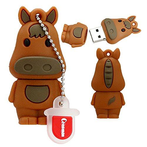 Chiavetta usb 2.0 da 4 gb 12 zodiaco cinese a forma di cavallo animale pendrive memory flash stick drive thumb stick cartone animato pendrive