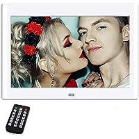 Cadres Photo numériques 10 Pouces, NeKan 1024 × 600 Haute résolution / 1080p HD Cadre Photo numérique électronique avec télécommande