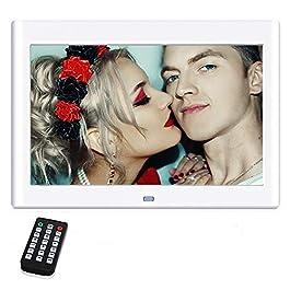 10 pollici cornici digitali, NeKan 1024 × 600 ad alta risoluzione / 1080P HD portafoto digitale con telecomando