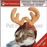 Pet Friend Ever–Sombrero Disfraz de ciervo para pequeño perro & gato–Cuernos de reno para Animal de compañía