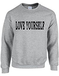 LOVE YOURSELF ~ JUSTIN BIEBER ~ GREY SWEATSHIRT ~ UNISEX SIZES S - XXL