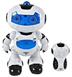 #6: jay antiques Robot Toy with Remote Control (White & Blue )