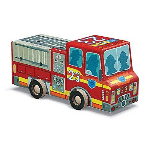 Crocodile Creek Fire Engine Puzzle in Fahrzeug geformten Box (48Stück), 20,3cm (Crocodile Creek-48 Teile Puzzle)
