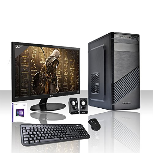PC DESKTOP COMPLETO INTEL I5-7400 3,5 GHZ 7°GEN/LICENZA WINDOWS 10 PRO/GRAFICA HD630 1GB 1080p 4K/WIFI 150 mbps/HD 1TB/RAM 8GB DDR4 2133 MHZ/RW-CD-DVD//MONITOR 22 LED LG/TASTIERA E MOUSE USB/CASSE