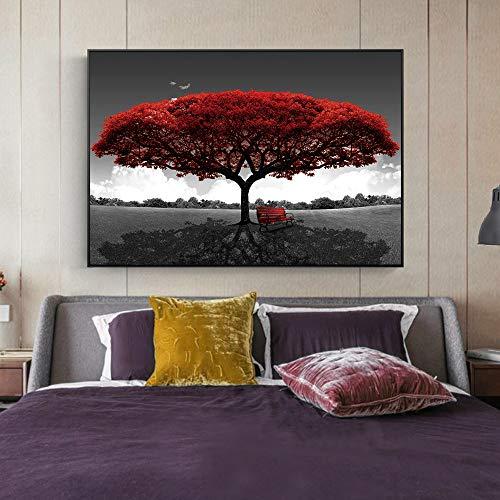 NIMCG Opera d'Arte Astratta Pittura a Olio di mangrovie su Tela Stampa Poster d'Arte e Stampe Paesaggio Parete Arte Foto Decorazione della Parete di casa (Senza Cornice) A1 50x75 cm