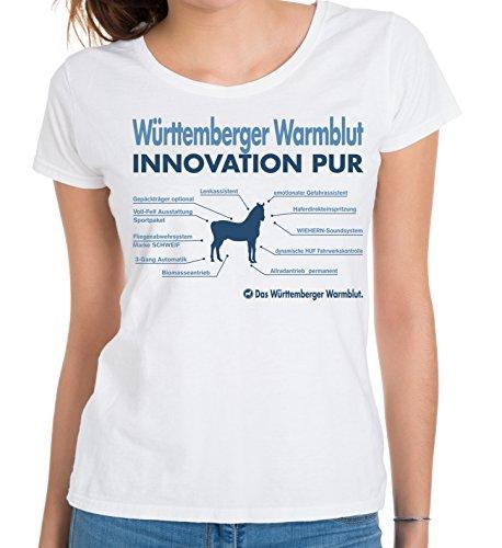 Siviwonder WOMEN T-Shirt INNOVATION - WÜRTTEMBERGER WARMBLUT - Pferde Fun reiten Weiß