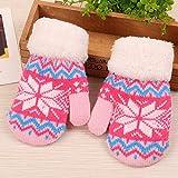 BiliWL Hervorragende High Quality Winter Kids Toes Warm Gloves mit Knitterhandschuhen und Mädchen Knitterhandschuhe für Kinder 6-11Jahre Klassik(None 7)