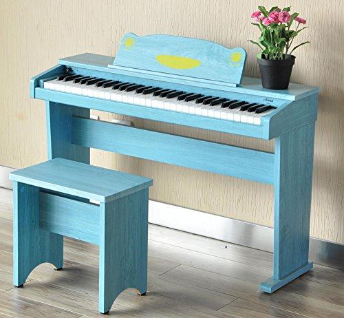 Artesia F-61BL Kinder Digitalpiano (E-Piano, Keyboard, Bank, Kopfhörer, 61 anschlagsdynamische Tasten, 8 Sounds, 1 Demo Song, 32-Fache Polyphonie, USB-Anschluss, inkl. Apps für Android und iOS) blau - 7
