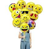 PovKeever Emoji Party Luftballons 18 Inch Fol...Vergleich