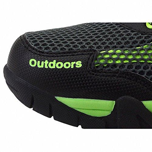 Ben Sports Herren Damen Trekkingschuhe Outdoorschuhe Unisex Wanderschuhe Schwarz und grün