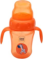 Mee Mee 210ml 2 in 1 Spout and Straw Sipper Cup (Orange)
