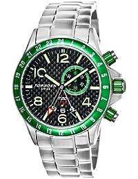 Torgoen T20202 - Reloj analógico de cuarzo para hombre, correa de acero inoxidable color plateado