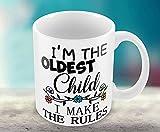 Hiros®Rules Mug , I'm the oldest Child , I make the rules , Sibling Rivalry Present Mug , Funny gift mug , gift for anyone .