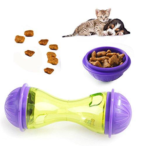 Dispensador de alimentos para mascotas, alimentador divertido de cuenco de entrenamiento para mascotas, juguete para gatos de alta calidad, inteligente, bola de hielo, juguetes indestructibles, dispensador de comida